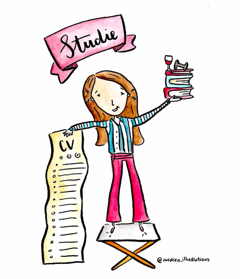 studiestress illustratie